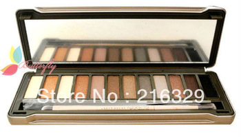 Free shipping brand makeup Eyeshadow Palette with brush,12 different colors ~ Best selling
