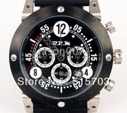 collection and Abarth Watch Chronograph B.R.M leather band mens watch watches(China (Mainland))