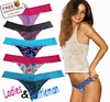HOT Sales Free Shipping High Quality Pop Brand Name Silky sexy G String 5Pcs/Lot Women Underwer