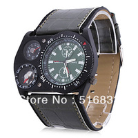 Army Stylish Men's Analog Wrist Watch with Compass and Thermometer Decoration Dial free shipping