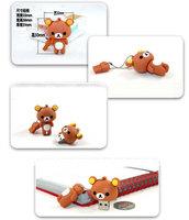 1pcs/lot free dropshipping Cartoon design Cute Rilakkuma usb flash drive,pen drive 2GB/4GB/8GB/16GB 100%full capacity