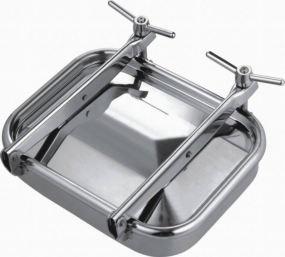 535x435mm SS304 Square manhole cover,Stainless steel tank manway(China (Mainland))