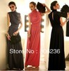 Women's Upgrade Turtleneck Slim Waist Formal Vintage Floor Length Dress A1627