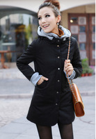 free shipping new fashion letter glossy cotton-padded clothes long design women's wadded jacket warm winter coat