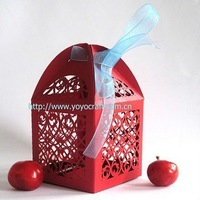 hot sell laser cut bird individual high quality excellent free logo paper customizable wedding candy box