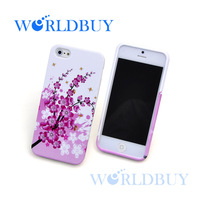 High Quality Flower Butterfly Colorful Priinting Soft Gel TPU Case Cover for iPhone 5 5s Free Shipping UPS DHL EMS HKPAM CPAM