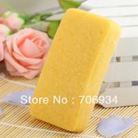 3pcs/lot 4colors Rectangle 100% Natural Turmeric Konjac Body Sponge Facial Wash Cleaning Puff 148*80*28