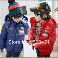 free shipping Children's Parkas winter polar bear Down coat unique Glossy cloth + clip cotton + slide wire inside
