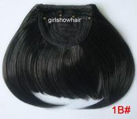 Free shipping-hair fringe,clip in hair bang,neat hair bang,synthetic hair bang, Color 1B#, classical hairbang, 5pcs/lot
