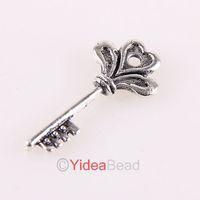 Free Shipping Wholesale 160pcs Silver Tone Charms Key Pendants Fit DIY Necklace 141531