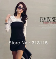 fast shipping retail plus size women's dress with long sleeves YF-WD01