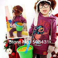 children's clown pattern active Hoodies pullover hood fleece sport sweatshirt 4 designs 2 colors free shipping