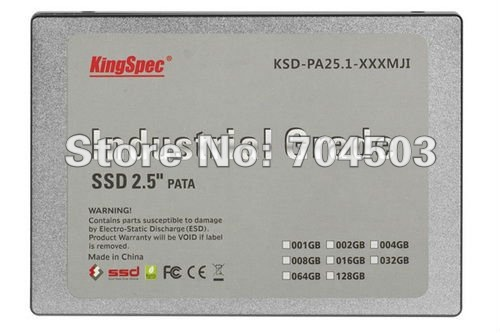 "Free Shipping KingSpec with Industry Series 2.5"" PATA 128GB MLC solid state hard drive for or Industrial PC or Server SSD(China (Mainland))"