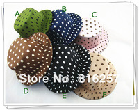 "Free shipping  4""(10cm) 6 color  mini top hats, dot satin children party hats,good as fascinator hats 24 pieces/lot MH013"