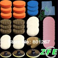 40PCS M14 Thread High Gross Polishing Buffer Pad Set For Car polisher