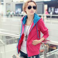 FREE SHIPPING Women's  women's casual long-sleeve with a hood sweatshirt cardigan,ladies gmarnets,3 colors