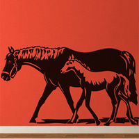 Free Shipping Wall stickers Home decor SIze:560mm*1024mm PVC Vinyl paster Removable Art Mural Horse z-28