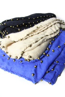 2012 women's fashion beading decoration comfortable faux scarf cape silk scarf