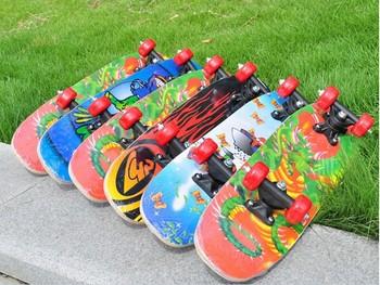 free shipment 6 kinds of Maple Deck PVC Wheel Children Skateboard