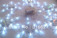 LED Chirstmas crystal snow light 6pcs white color  110V-220V 2.5M/PCS