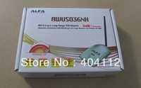 Free shipping!! Latest High Power ALFA Wireless Network Adapter AWUS036NH 2000Mw 150Mbps wifi usb adapter