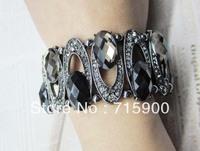 Free shipping Min order  $10(mixed order) Fashion full  stone crystal elastic bracelet