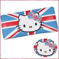 Hello kitty new fashion HOT SALE men women ultrathin purse wallet Design flag small size 340 WKT018