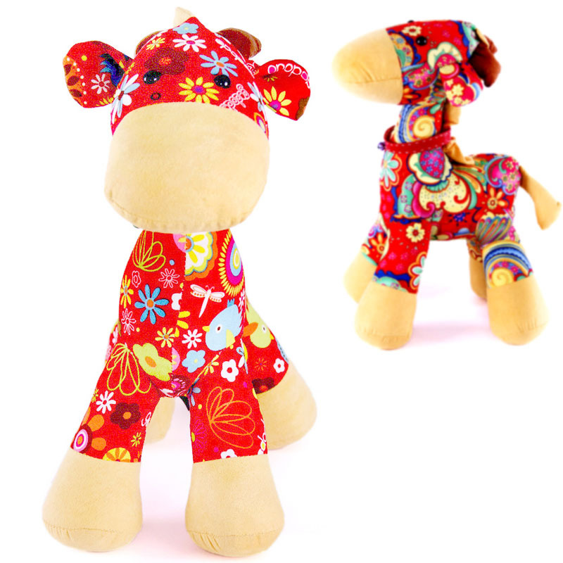 New Arrival Wholesales Cute Christmas Deer Cloth Doll Christmas Gift Colorful Cloth Arts Crafts Home Furnishings FC12400(China (Mainland))