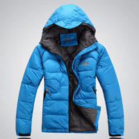 Free shipping !!! 2012 New Men's Brand winter fashion Outdoor waterproof even cap down jacket down Coat / M-XXL