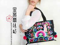 Super pull style embroidery bag shoulder bag unique bag RIP women's handbag