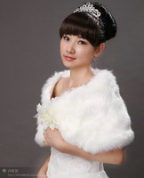 e shipping urged bride plush cape wedding wrap fur shawl fly wing to wing scarves wraps tippes cappa 05