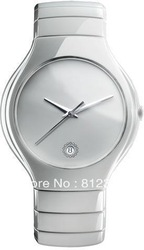 Hot Sell Free Shipping mens Watch Japan Movement Saphire Glass White Ceramic With Original box ##RA017(China (Mainland))