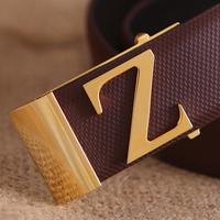 Z buckle male cowhide strap fashion commercial belt accessories male belt male strap belt