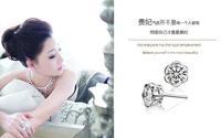 Romantic earring lovers royal temperament plum blossom earrings free shipping