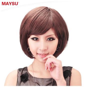 free shipping1pcs High temperature wire bangs fluffy female short straight hair elastin element ht008