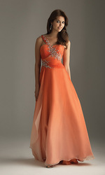 Classic Design Formal A-Line Chiffon Zipper One Shoulder Gown Design Your Own Prom Dresses(China (Mainland))