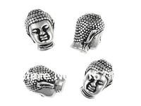YH-B02  15mmx10mm Buddha  Bead Antique Silver Buddha Beads Metal Buddha Beads