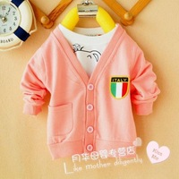 FREE SHIPPING kid,  baby sweatshirt ,infant autumn, mulit-color  cardigan ,B028