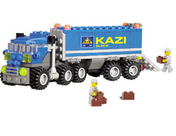 Kazi City Build Series Dumper Truck Building Block Sets 163+pcs Enlighten Educational DIY Construction Brick toys No.6409(China (Mainland))