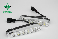 SY-008D1:New style 10W Super Bright Daytime Running Lights Car headlights lamps for any Cars; Car DRL;LED Auto parts,1W*5led*2(China (Mainland))