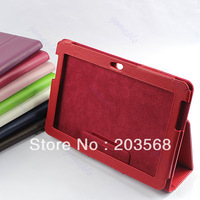 New PU Leather Case Cover Stand Skin Protective For Samsung Galaxy Tab 2 P5100 10.1 Tablet 9 Colors
