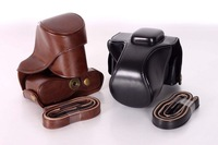 Wholesale!High Quality camera case bag fit for Olympus EPL3 E-PL5 EPL5 EPL6 EPM2 PU leather bag case Free shipping