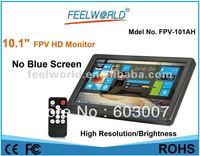 NO Blue / Black Screen 10.1 inch HD FPV Monitor W/Sunhood NTSC PAL FW-101AH + Free Shipping