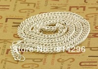 Free  shipping     Fashion jewelry 925 silver monolithic classic male necklace