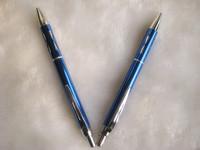 New Elegant Metal Click Blue Ball Pen/Office Pen/Promotion&Fashion Pen/DHL or Fedex Free Shipping
