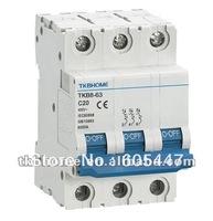 C16 3P circuit breaker/MCB with flame retardancy nylon material