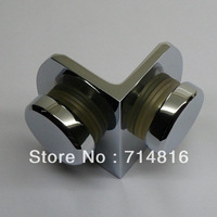 90 degreeglass to glass chrom brass glass clamp. wall to glass clamp
