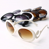 High Quailty Retro-inspired Women Butterfly Clouds Arms Semi Round Sunglasses New 12Pieces/lot 4 Colorful choses