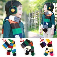 New2012 Hot Sale Baby scarf, children cotton+ wool scarf winter warm scarves with Chuzzle  shawl wholesale retail Free shipping