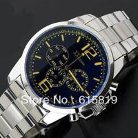 Business Men's taste - Sapphire blue color surface multi-function Retro men's watch/Quartz watch with Metal strap